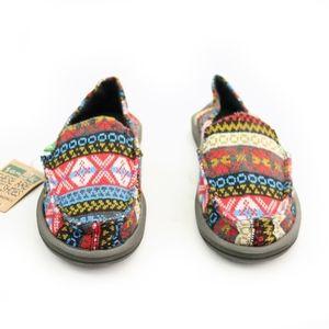 Sanuk Shoes - Sanuk Sidewalk Surfers Mika Multi Nordic Red Shoes